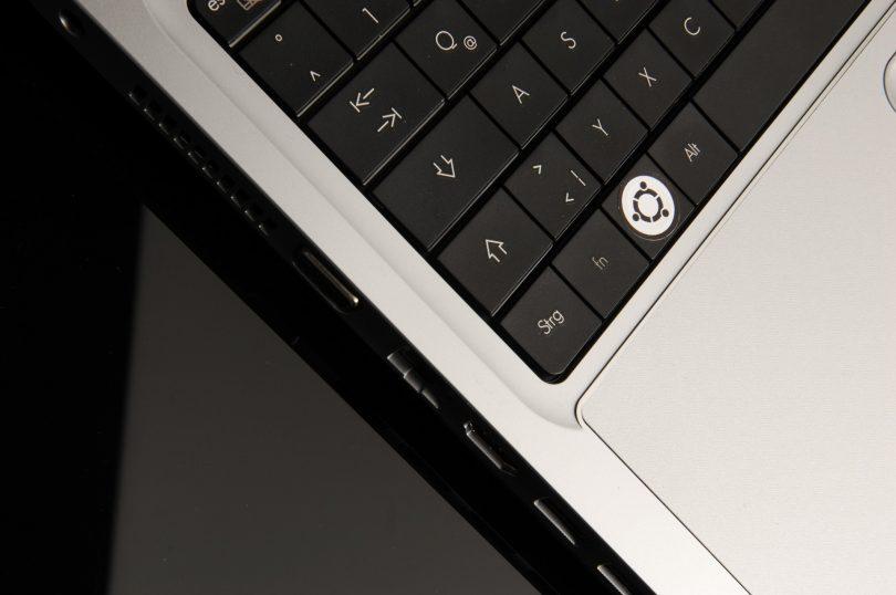 Symbolbild: Tastatur mit dem Ubuntu-Logo
