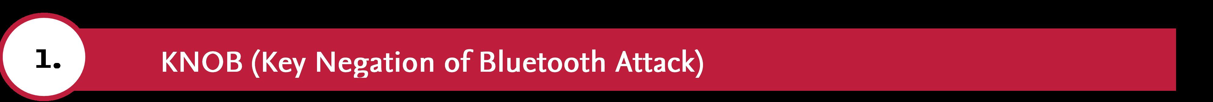 KNOB (Key Negation of Bluetooth Attack)